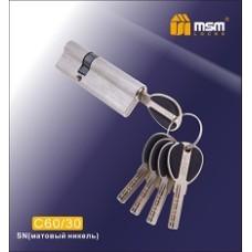 Цилиндровый механизм, латунь Перфорированный ключ-ключ C60/30 мм