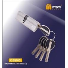 Цилиндровый механизм, латунь Перфорированный ключ-ключ C55/40 мм