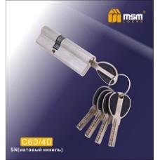 Цилиндровый механизм, латунь Перфорированный ключ-ключ C60/40 мм