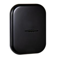 Декоративная накладка Fuaro (Фуаро) со шторкой на сувальдный замок ESC 486-S SQ XL (черный) BL-24, 1 шт.