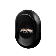 Накладка под Fuaro (Фуаро) сувальдный ключ ESC-13S с автом. шторками BL-24 чёрный (1 шт)