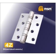 Петля латунная универсальная 100 мм  4Z Матовый Никель