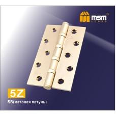 Петля латунная универсальная 125 мм 5Z Матовая латунь