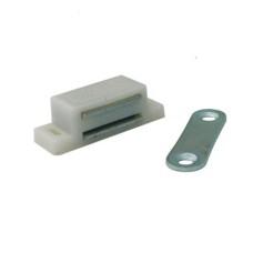 Магнит мебельный L-74 h-15 белый SOLLER