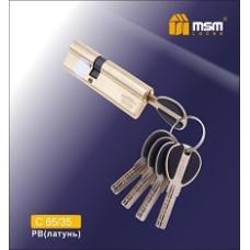 Цилиндровый механизм, латунь Перфорированный ключ-ключ C65/35 мм