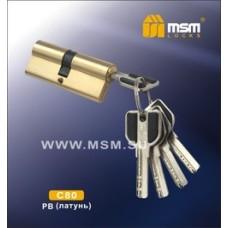 Цилиндровый механизм, латунь Перфорированный ключ-ключ C80 мм