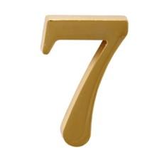 """Цифра дверная АЛЛЮР """"7"""" на клеевой основе золото"""