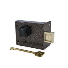 Сенат ЗНС-10-6 3кл 1 ригель 535 ключ однобородочный (буратино) Замок накладной
