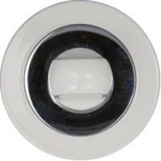 Медио накладка MBK02 CP+White (БЕЛЫЕ) белый/хром