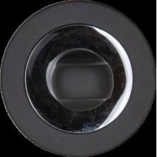 Медио накладка MBK02 CP+Black матовый черный/хром