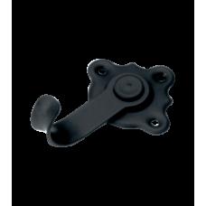 Домарт крючок-вешалка 1-рожковый мод.3 черный